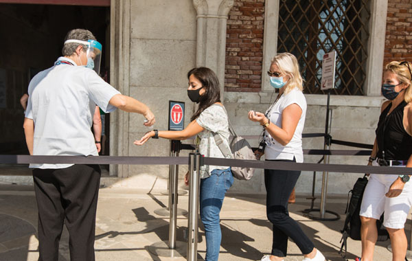 Temperature test on entering the Doge's Palace