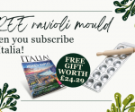 Free gift when you subscribe to Italia!